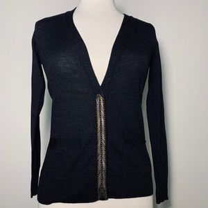 Banana Republic NWT Black Merino Wool Cardigan